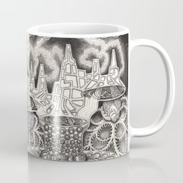 BioTechnological DNA Tree and Abstract Cityscape Coffee Mug