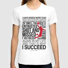 Michael Jorden Basketball Motivation T-shirt
