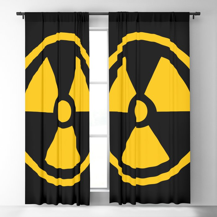 Yellow Radioactive Blackout Curtain