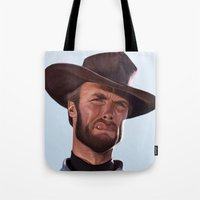 clint barton Tote Bags featuring Clint by Mark Hammermeister