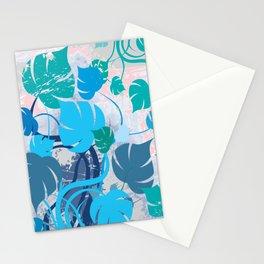 Monstera cavalcade Stationery Cards