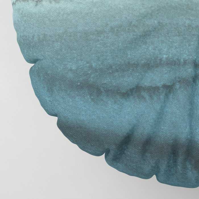 WITHIN THE TIDES - CRASHING WAVES TEAL Floor Pillow