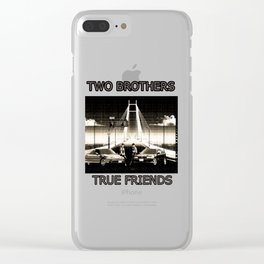 Two Brothers True Friends - by HS Design Clear iPhone Case
