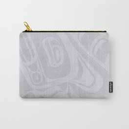Curled Wolf Grey Lund Carry-All Pouch
