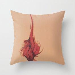 Flaming Tree Throw Pillow