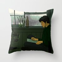 grantaire Throw Pillows featuring Grantaire by rdjpwns