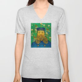 Vincent van Gogh - Portrait of Postman Unisex V-Neck