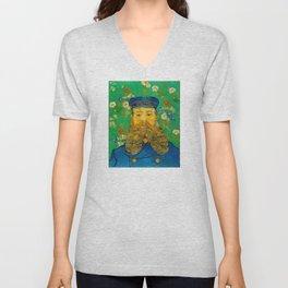 Vincent van Gogh - Portrait of Postman Unisex V-Neck
