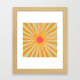 Sun In The Sky 2 Framed Art Print