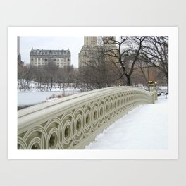 On Bow Bridge Art Print