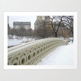 On Bow Bridge Art Print