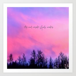 Stop & Consider God's Wonders Art Print
