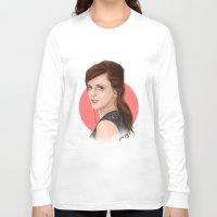 emma watson Long Sleeve T-shirts featuring Emma Watson by joanpsart