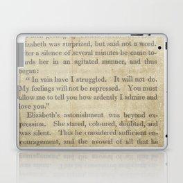 Pride and Prejudice  Vintage Mr. Darcy Proposal by Jane Austen   Laptop & iPad Skin