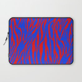 Zebra Print Red and Blue Laptop Sleeve