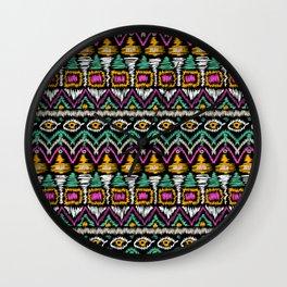 Ethnic American pattern 4 Wall Clock