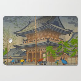 Rain in Higashi-Honganji Temple, Kyoto Asano Takeji Japanese Woodblock Print Cutting Board