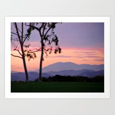 Saddleback Sunset Art Print
