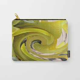 Yellow Abstract Carry-All Pouch