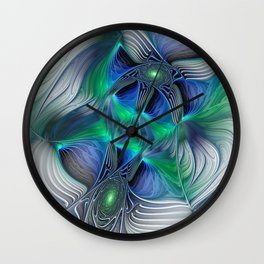Fantasy Place, Abstract Fractal Art Wall Clock