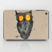 scary iPad Cases featuring Scary owl by Bwiselizzy
