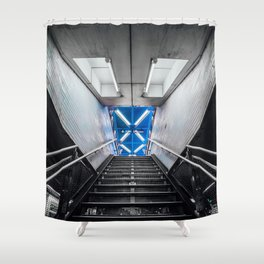 Symmetry of NYC subway Shower Curtain