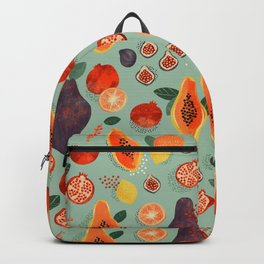 Tropical Fruit Papaya Party Backpack
