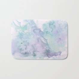 Pastel modern purple lavender hand painted watercolor wash Bath Mat