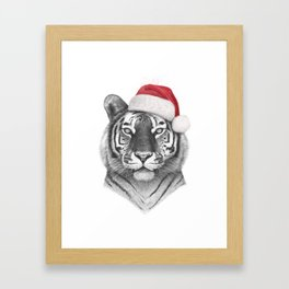 Christmas Tiger Framed Art Print