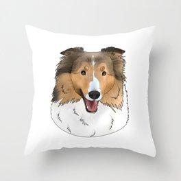 Riley the Sheltie Throw Pillow