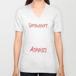 Shreveport Atheists Logo 2 Unisex V-Neck