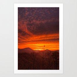 Smoky Mountain Sunset #1 Art Print