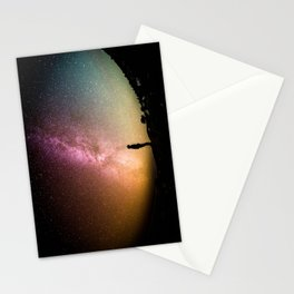 silhouette man stars Stationery Cards