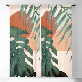 Abstract Art Tropical Leaves 29 Blackout Curtain
