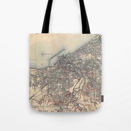 Vintage Map of Cleveland (1904)  Tote Bag