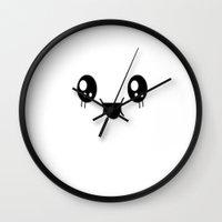 kawaii Wall Clocks featuring Kawaii by Madi D.