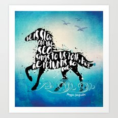 The Scorpio Races quote design Art Print