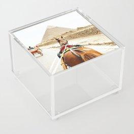Horse ride to the pyramids Acrylic Box