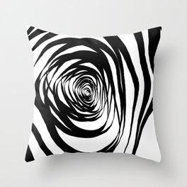 Simple Spiral Warped Throw Pillow