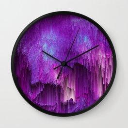 Shatter Falls - Abstract Glitch Pixel Art Wall Clock
