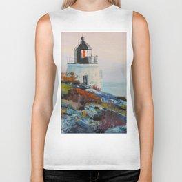 Castle Hill Lighthouse Newport Rhode Island RI Biker Tank