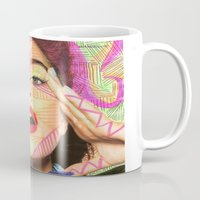 neon Mugs featuring Neon  by Kate Allison