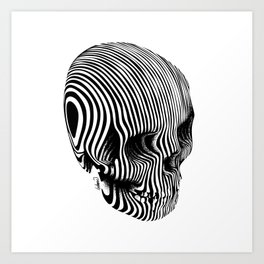 Skull Lines Tattoo Art Print
