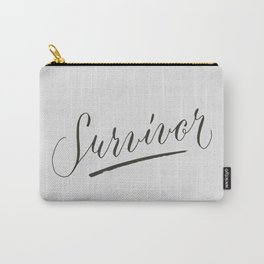 Survivor Modern Calligraphy Hand Lettering Design Carry-All Pouch
