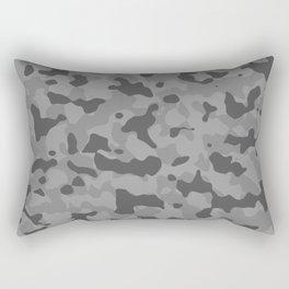 Camouflage Gray Rectangular Pillow