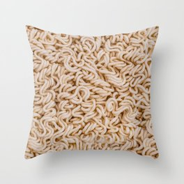 Instant Ramen Noodle II Photo Pattern Throw Pillow