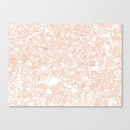 These Lines [We Draw] Canvas Print