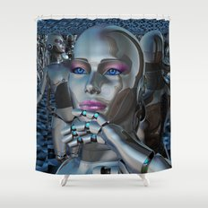 Robotic Chaos Shower Curtain