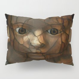 Old Doll Face Pillow Sham