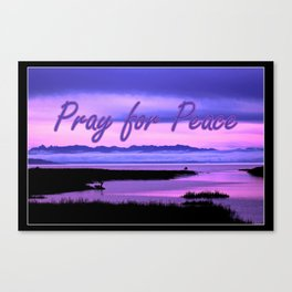 pray for peace (pink scenic) Canvas Print
